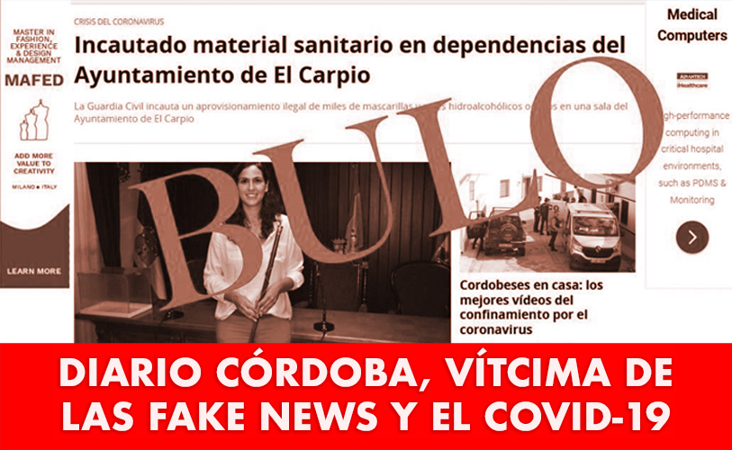 Diario Córdoba, víctima de las fake news y el COVID-19